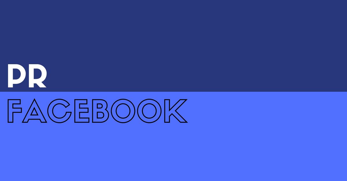 PR Takes On Facebook