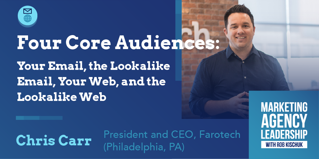 Four Core Audiences: Your Email, the Lookalike Email, Your Web, and the Lookalike Web
