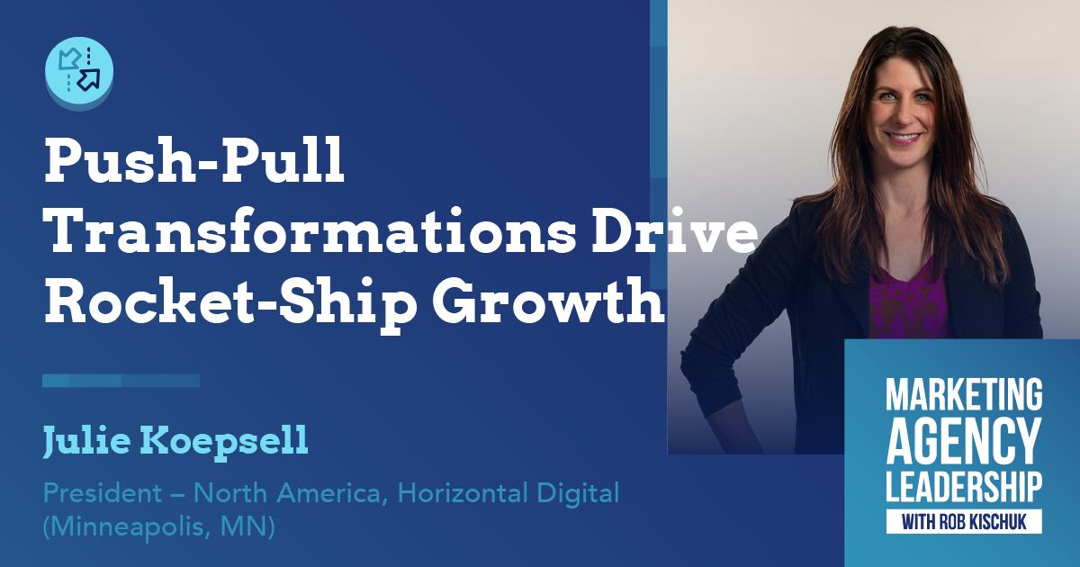 Push-Pull Transformations Drive Rocket-Ship Growth